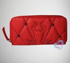 New Disney Maleficent Red Zip Around Wallet