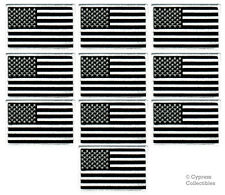 LOT OF 10 TEN AMERICAN FLAG PATCHES EMBROIDERED United States USA IRON-ON BLACK