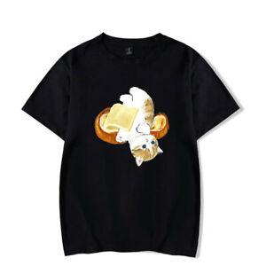 Lovely Cat Kitty Butter Bread T-Shirt Men/Women Casual Short Sleeve T Shirt