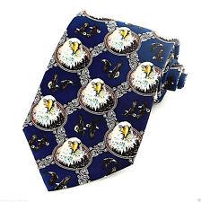 American Bald Eagle Diamond Mens Necktie Patriotic Animal Bird Silk Neck Tie New