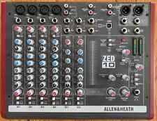 Allen & Heath ZED10 10-Channel Compact Professional Broadcast Mixer