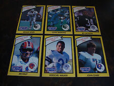 1990 Starting Lineup---Football Cards---Lot Of 6---Elway, Kelly, Bo Jackson, Etc