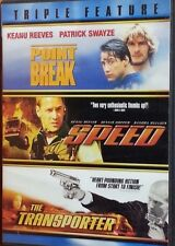 Point Break, Speed and the Transporter Triple Feature  DVD  LIKE NEW