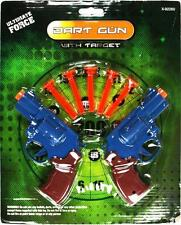 Suction Dart Gun Toy with Cardboard Target 2 Guns 5 Darts Game Boy Girl