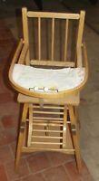 Ancienne chaise bébé Bouillie Dinette Fauteuil France Old baby chair Boiled ....