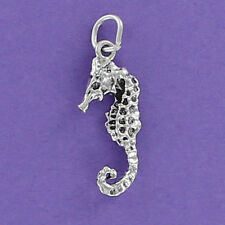 Seahorse Charm Sterling Silver for Bracelet 925 Ocean Sea Life Fish Aquarium