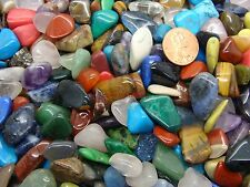 Size #4 - Medium Tumbled Polished Gemstone Mix - 2000 Carats Lots - 180 Gems