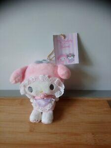 Petite peluche doudou my melody kuromi blanc rose tétine 13 cm Sanrio neuf