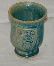 Moville Ireland Pottery Grog Mug Cup Stag Galaxy Green Reindeer Stars 19200