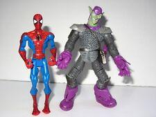 Marvel Spider-Man Hasbro Animato Toy Figure Set SPIDER-MAN VS IL Green Goblin