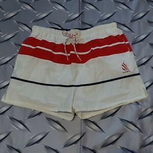 Vintage 90s Nautica  Swim Trunks Board Shorts Colorblock Size XL