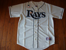 Tampa Bay Rays White Home Jersey w/Tags  Size M (Adult)