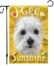 Sunflower Garden Flag Westie painting Fall outdoor yard decor for Summer or Fall