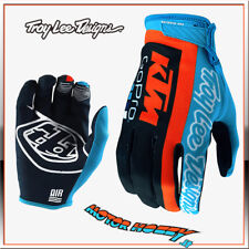 GUANTO CROSS ENDURO TROY LEE DESIGNS AIR GLOVE TLD KTM TEAM NAVY CYAN TAGLIA M