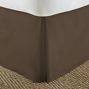 Chocolate Solid Split Corner Bed Skirt Choose Drop Length All US Size 1000 TC