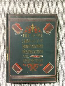 1902 Leather The Home Library of Entertainment Instruction and Amusement