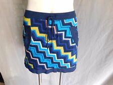 NWT Missoni Target Navy Yellow Pink Blue Chevron Zig Zag Knit Sweater Skirt - XL