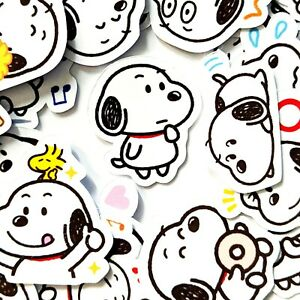 40 Adorable Snoopy Cute Stickers Journal, Diary Stickers, Scrapbooking [USA]