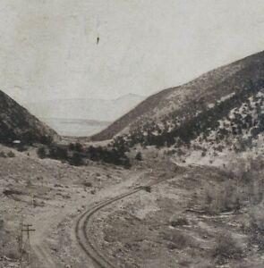 Colorado Down Through Poncho Mountain Pass Railway Railroad Stereoview G211