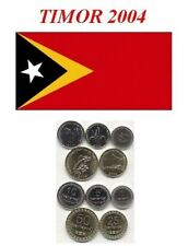 East Timor Leste Set 5 coins 1 5 10 25 50 centavos 2004 Indonesia Portugal UNC