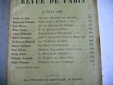 LA REVUE DE PARIS n° 12 - 1933 revue littéraire BIDOU FLAMENT CHAMPION etc