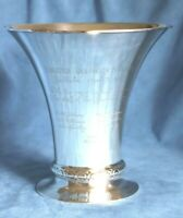 Antique 1923 US Ambassador Sweden K. ANDERSON Sterling Silver Presentation Vase