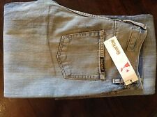 Seal Kay distressed blue womens boot cut jeans 28' 36L