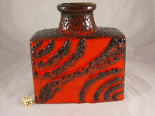 Eccezionali Scheurich Fat Lava Ceramica Vaso Rosso-Nero 281-19 Wgp