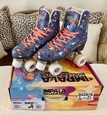 Impala roller skates size 8 Harmony Blue, pristine condition