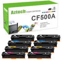 8PK CF500A Compatible for HP 202A Toner Color LaserJet Pro MFP M281fdw M254dw