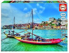 Educa 17196 - Barcos Rabelos, Oporto - 1000 piezas - Portugal Exclusive Puzzle