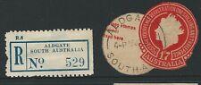South Australia - Aldgate Registration Label & Postmark.