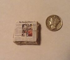 1:24 Miniature Dollhouse Newspaper Recycling Stack of Papers 1/2 Scale Room Box