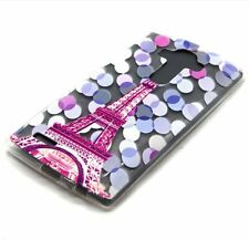 For LG G4 - SOFT TPU RUBBER GUMMY SKIN CASE PINK BLUE CLEAR PARIS EIFFEL TOWER