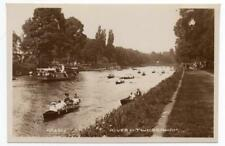 Early TWICKENHAM  Rowing on the Thames LONDON  Postcard