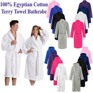100% LUXURY EGYPTIAN COTTON TERRY TOWEL UNISEX TOWELLING BATH ROBE DRESSING GOWN