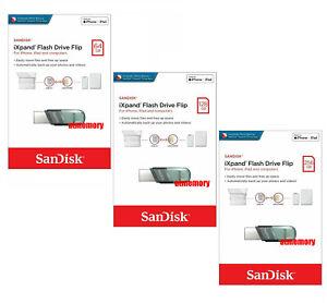 Sandisk iXpand Flip 32GB 64GB 128GB 256GB USB Flash Drive for iPhone/iPad IX90