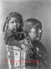 New Art Print 1908 Edward Curtis Photo Apsaroke Indian Mother With Child 11X17