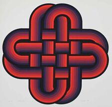 """Peters, Jürgen, """"Wattle"""" signed 1970 Op-Art, Geometrical Composition,"""