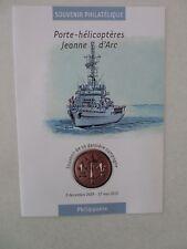 document philatélique Porte-Hélicoptères Jeanne d'Arc oblitéré 1er jour 2009