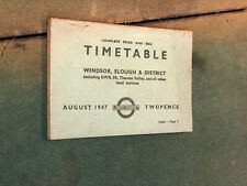 More details for 1947 road & tail timetable, windsor, slough & district timetable