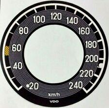 Mercedes W111 3,5 Tacho Tachofolie Tachoscheibe bis 240 km **303**