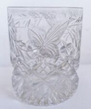 Clear Etched Victorian Date-Lined Glass