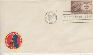 BOY SCOUTS FDC #995 RED SEAL G.W.KNEELING NATIONAL JAMBOREEUNADDRESSED