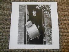 Vintage Photo Print THE BEATLES PAUL MCCARTNEY Drum Kit & YOUNG GEORGE HARRISON