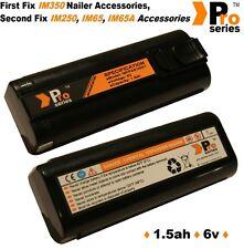 2 x batteries de rechange 1.5 ah (pro-series) pour cordless Paslode IM350 / 250