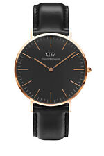 Daniel Wellington DW00100127 Classic Sheffield Black Rose Gold Watch