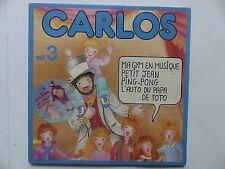 Livre disque CARLOS N°3 Ma gym en musique 2C010 72245