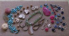 Jewelry Making Supplies*Evans Lot*Focals*Agate*Pink*Tur q Howlite*Jasper*Lampwork