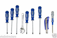9 Pc Screw driver set with Wrench, Tester & Cutter with carry case